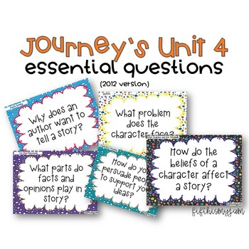 Journey's Unit 4 Grade 5 Essential Questions