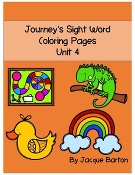 Journey's Unit 4 Sight Word Coloring