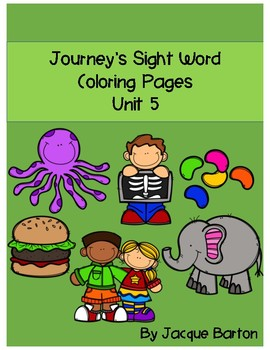 Journey's Unit 5 Sight Word Coloring