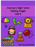 Journey's Unit 6 Sight Word Coloring