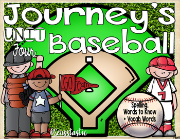 Journeys (Unit Four) Baseball (50% off for 48 hours only!)