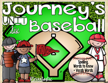 Journeys (Unit Six) Baseball (50% off for 48 hours only!)