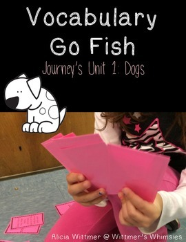 Vocabulary Go Fish: Dogs (Used with Journeys)