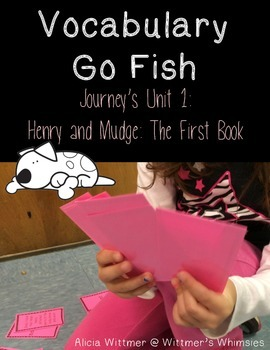 Vocabulary Go Fish: Henry and Mudge: The First Book (Used with Journeys)