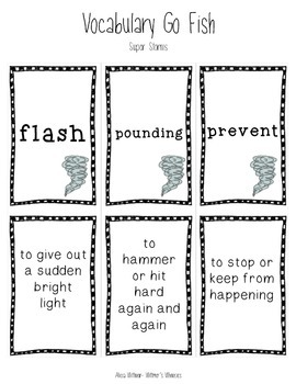 Vocabulary Go Fish: Super Storms (Used with Journeys)