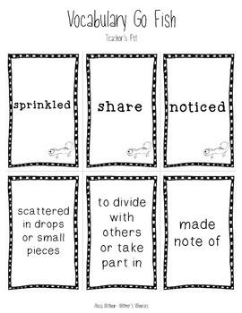 Vocabulary Go Fish: Teacher's Pet (Used with Journeys)
