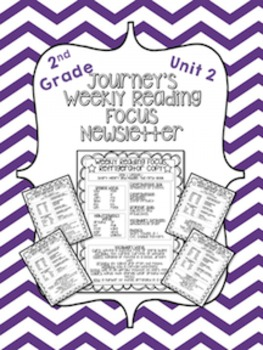Journey's Weekly Reading Focus Newsletter (Unit 2)