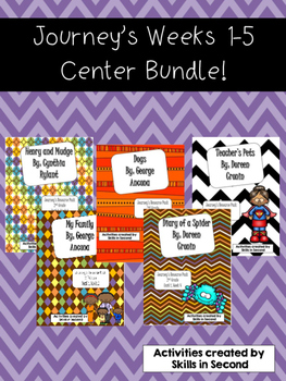 Journey's Weeks 1-5 Center Bundle!