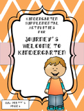 Journey's Welcome to Kindergarten Supplemental Activities