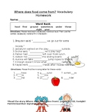 Journey's Where Does Food Come From? Vocabulary Homework