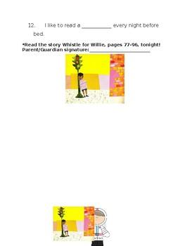 Journey's Whistle for Willie Spelling Homework