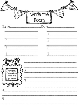 Journey's Words to Know- Write the Room (3rd Grade Unit 2)