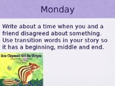 Journey's Writing Prompts - Grade 2 Unit 2 Lesson 9