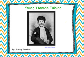 Journey's Young Thomas Edison flipchart