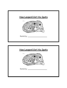 Journey's supplemental activity-How Leopard Got His Spots-Sequencing events