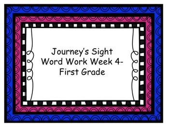 Journey's week 4 sight word work
