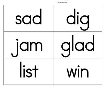 Journeys Second Grade Spelling Lists 1-30 Word Cards and Master List