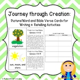 Journey through Creation:  Bible Word Cards Writing & Retelling Activities