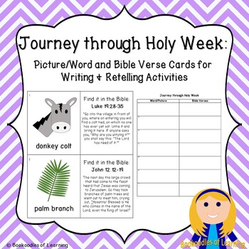 Journey through Holy Week: Picture/Word Cards for Writing & Retelling Activities