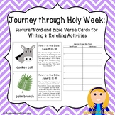 Journey through Holy Week: Picture/Word Cards for Writing