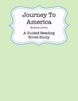 Journey to America Novel Study