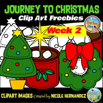 Journey to Christmas (Week 2) Free Clip Art Set for Teachers