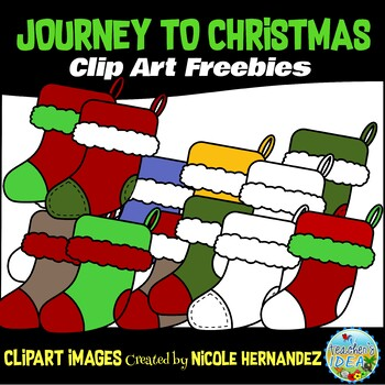 FREE (Set 5) Journey to Christmas Clip Art for Commercial Use