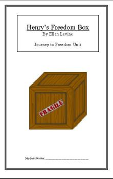 Journey to Freedom:Henry's Freedom Box (Week 3) Common Core Weekly Lesson Plan