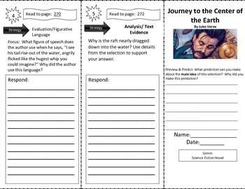 Journey to the Center of the Earth Close Read Trifold Reading Street