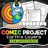 Journey to the Center of the Earth - Layers of the Earth Project - Comic Strip