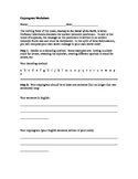 Journey to the Center of the Earth Cryptogram Worksheet