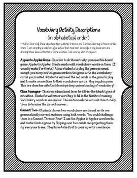 Journey to the Center of the Earth Vocabulary Activities Unit 5, Story 4