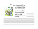 Journey to the Center of the Earth Writing