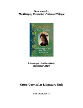 Journey to the New World (Dear America: Diary of Remember...) Literature Unit