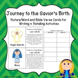 Journey to the Savior's Birth: Bible Word Cards & Writing/Retelling Activities