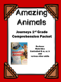 "Journeys 1st Grade ""Amazing Animals"" Comprehension Packet"