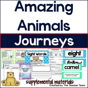 Amazing Animals Journeys 1st Grade Unit 5 Lesson 22 Activities and Printables