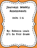 Journeys 1st Grade Assessements- Entire Series