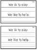 Journeys 1st Grade Daily Proofreading Practice Mini-Books, Unit 1