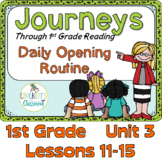 Journeys 1st Grade Daily Routine, Unit 3