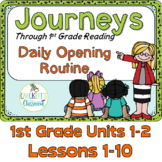Journeys 1st Grade Daily Routine, Units 1-2 Bundle