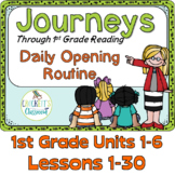 Journeys 1st Grade Daily Routine, Units 1-6 Bundle, Lessons 1-30