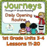 Journeys 1st Grade Daily Routine, Units 3-4 Bundle