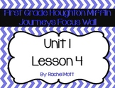 Journeys 1st Grade Focus Wall Unit 1 Lesson 4 Chevron Theme