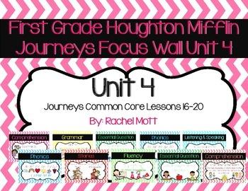 Journeys 1st Grade Focus Wall Unit 4 Chevron Theme