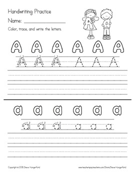 Handwriting Practice - Letters and Numbers - Order of 1st Grade Journeys