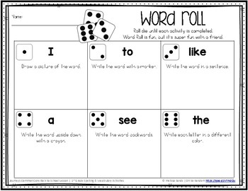 Journeys 1st Grade High Frequency Words Activity Pack {Click File, Print}