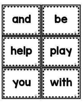 Journeys 1st Grade High Frequency Words- Black & White