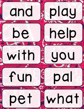 Journeys 1st Grade High Frequency and Vocab for Word Wall: Colorful Bandana