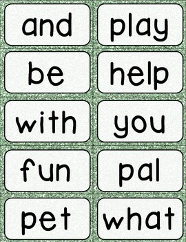 Journeys 1st Grade High Frequency and Vocab for Word Wall: Glitter